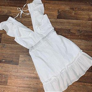 Vestido Decote Guipir Mariah Branco
