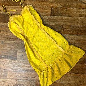 Vestido Laise Alcinha Mariah Amarelo