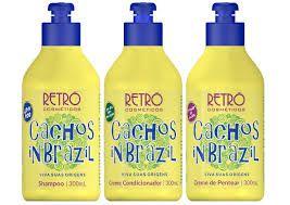 Kit Cachos In Brazil Retrô Cosméticos 300ml