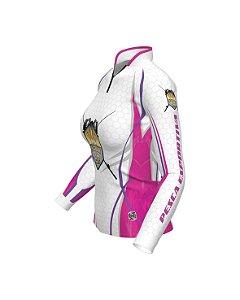 Camisa OFICIAL Pescadora de Elite - Proteção UV e Antibacteriana | Branca