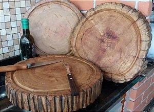 Tabua De Carne De Madeira Rustica Bolacha Para Churrasco
