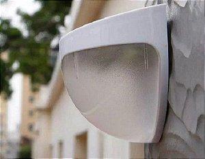 Kit 3 Luminárias Solar Led Externa Branca Parede Muro