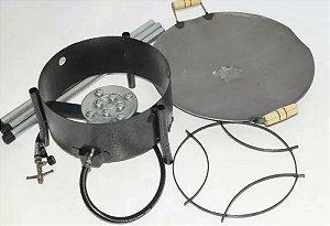 Fogareiro Alta Pressão + Disco Tipo De Arado 41 Cm + Tripé