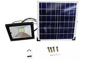 Refletor Solar Led Holofote Bateria Completo 20w