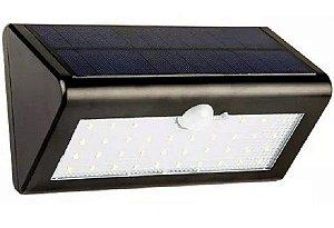 Lampada Solar De Parede Com 30 Leds Energia Solar Luminária T30