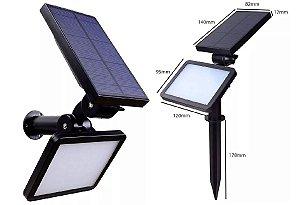 Luminária Holofote Solar Fotovoltaica Jardim E Afins 12W