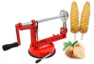Máquina De Cortar Batata Espiral E Hotdog Reg De Espessura