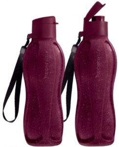 Tupperware Eco Tupper Garrafa Plus Merlot Glitter - Kit 02 PÇ (500ml Cada)