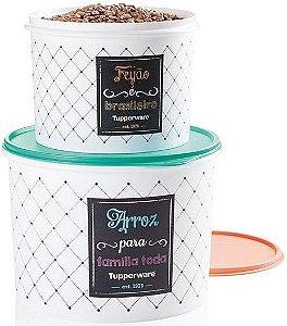 Tupperware Porta Alimentos Caixa Arroz 5kg + Caixa Feijão Bistrô 2kg