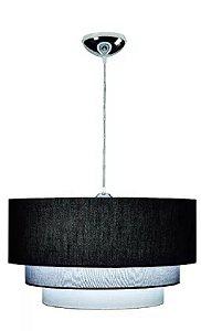 Lustre Luminaria Pendente De Teto Mesa Sala Quarto Bronzearte Valência 3 Luzes