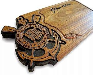 Tabua De Carne Do Corinthians Personalizada Grande 60x30x3,5cm