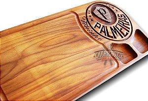 Tabua De Carne Do Palmeiras Personalizada Grande 60x30x3,5cm