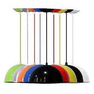 Luminarias De Teto Mesa Sala Cozinha Balcão Kit 2 Pendentes Coloridos Ônix Lustres Cone Moon