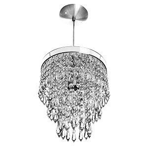 Pendente De Cristal Lustre Acrílico Manucrillic Luminaria De Teto Mesa Sala Cozinha Quarto Balcão