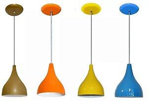 Kit 03 Pendentes Luminarias Gota De Mesa Teto Sala Lustres Coloridos Cozinha Americana