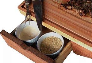 Tábua De Carne Inteligente Churrasco Corte Cozinha Com Gaveta E Porta Facas