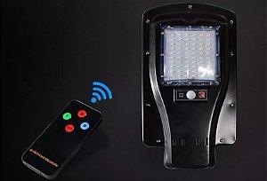 Refletor Luminária Potente De Energia Solar Led 30w Com Sensor Movimento E Controle Remoto