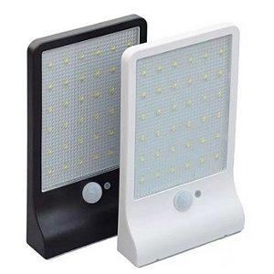 Luminária Refletor Solar Parede Muro 36 Leds 60w Potente Sensor Frio