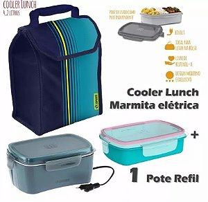 Marmita Elétrica 1,2 Litros Bivolt Com Cooler 4,2 L + 1 Pote Refil