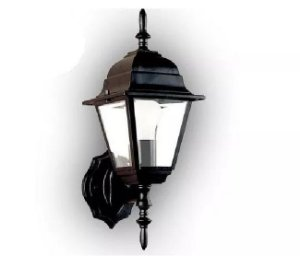 Arandela Colonial Clássica De Alumínio Luminaria Externa Preta De Parede Muro