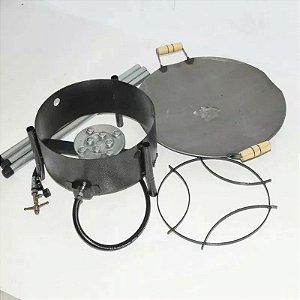 Kit Fritadeira De Alta Pressão + Disco Arado Reforçado 44 Cm + Tripe