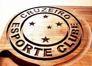 Tabua De Carne De Madeira Personalizada Do Cruzeiro 50x30x3,5cm Churrasco Corte Cozinha