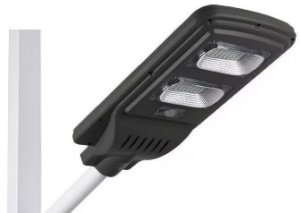 Luminária Refletor Energia Solar 40w Para Poste - Sensor Movimento E Controle