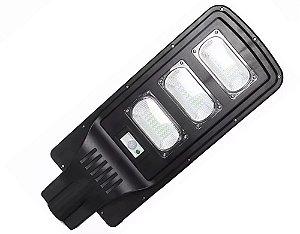 Luminária Refletor Solar 90W De Poste Led Com Sensor De Movimento E Controle Remoto