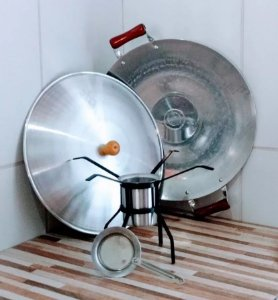 Tacho Tipo Disco Arado Modelo Baby 35cm Diâmetro Com Tampa + Copo Fogareiro