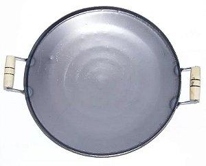 Chapa Tacho Tipo Disco Arado 45Cm Diam Grelhar Cozinhar Em Aço Carbono