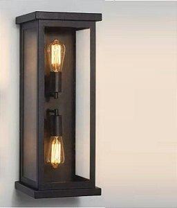 Arandela Dupla Classica Colonial Retro Vintage Interna Externa + 2 Lampadas Retro