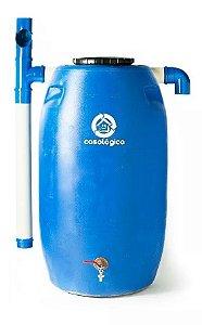 Tambor Plástico 240 Litros Reciclado Coletor Água Das Chuvas Calha - Mini Sisterna