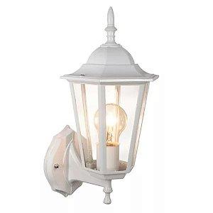 Arandela Luminária De Parede Colonial Rustica E27 Externa Interna - Branca