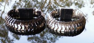 Pulseira alumínio articulado com fecho magnético (cada)