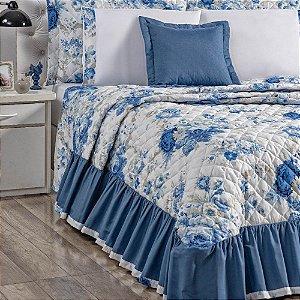 Enxoval Turmalina Queen Size 9 peças Azul