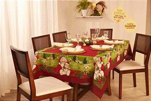 Toalha de Mesa de Natal Retangular 6 Lugares Lepper Encanto