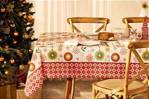 Toalha de Mesa de Natal Retangular 6 Lugares Lepper Magia