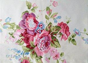 6191408ad0 Jogo de Cama Casal Padrão Dia a Dia Estampado 03 peças  Caqui Floral