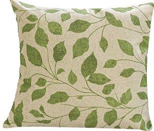 Capa de Almofada Impermeável 45cm x 45cm Verde Folha