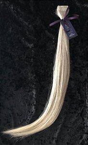 Cabelo natural na fita adesiva loiro acinzentado