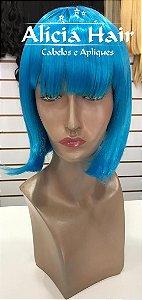 Peruca azul chanel