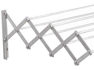 Varal Sanfonado c/ 1 M Aluminio MOR