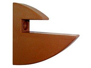 Suporte PVC para Prateleira 15mm Marrom c/ 10un