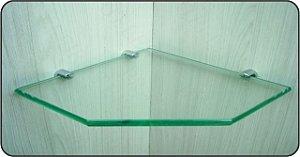 Prateleira de Vidro Vitta Recorte 30x 30 cm