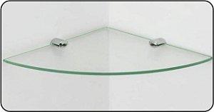Prateleira de Vidro Vitta Raio 20x 20 cm