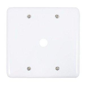 Placa Branca 1 Furo 4x4 - 245B