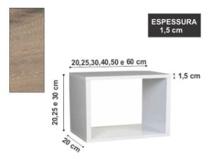 Nicho Simples 60x20x20cm Elmo Macciato
