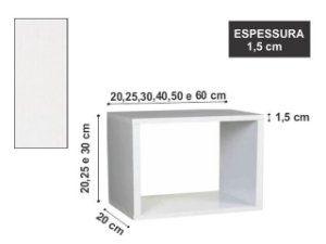 Nicho Simples 30x20x20 cm Branco