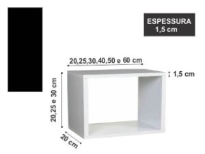 Nicho Simples 25x25x20 cm Preto