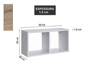Nicho Duplo 56x28x20 cm Elmo Macciato